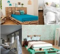 Europaletten Bett selber bauen – 30 Ideen für kostengünstige DIY-Möbel in Ihrem Schlafzimmer