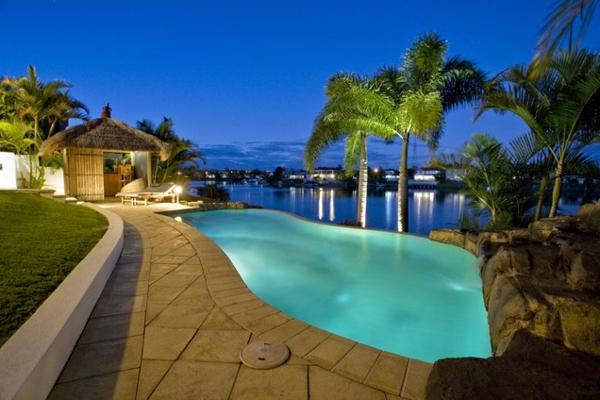bilder pool garden schwimmbecken ideen exotisch