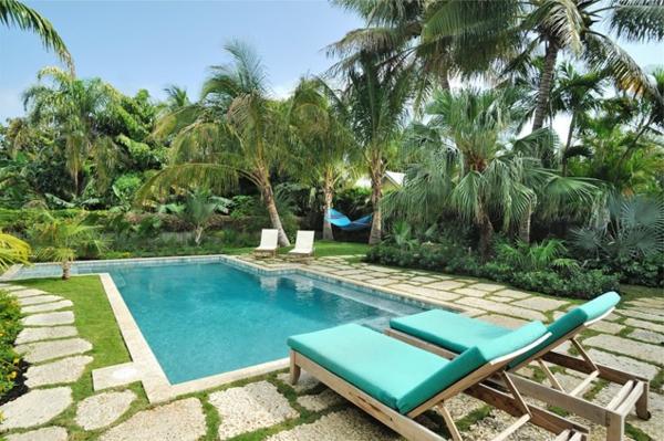 bilder pool garden schwimmbecken ideen liegen blau