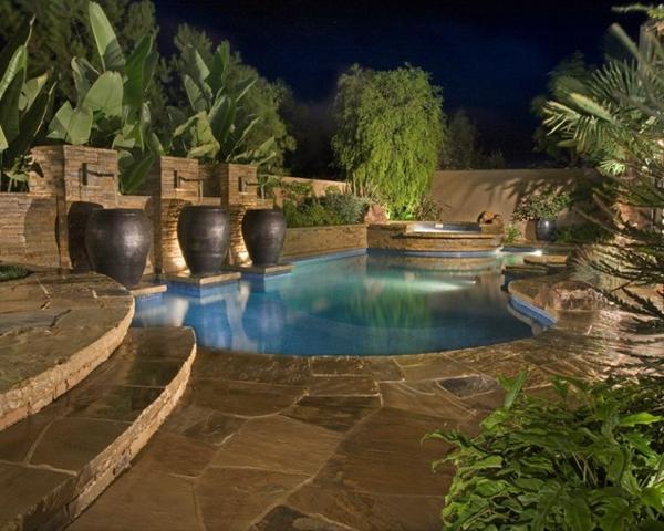1001 ideen und erstaunliche bilder von pool im garten for Schwimmpool garten