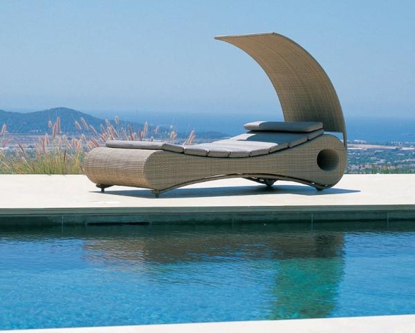 bilder pool garden schwimmbecken ideen rattan