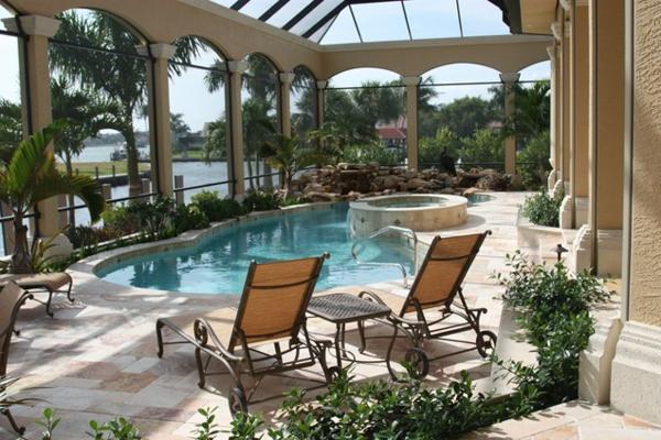 bilder pool garden schwimmbecken ideen sonnenliegen