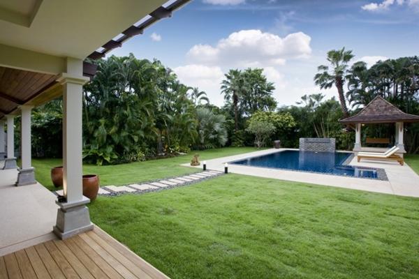 gartengestaltung grün gras bilder von pool im garten