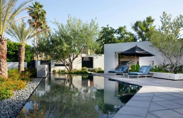 bilder zeitgenössisch pool im garten residenz