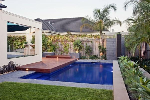 bilder von pool im garten schön