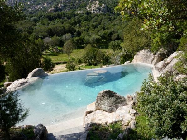 1001 ideen und erstaunliche bilder von pool im garten for Poolgestaltung mit steinen