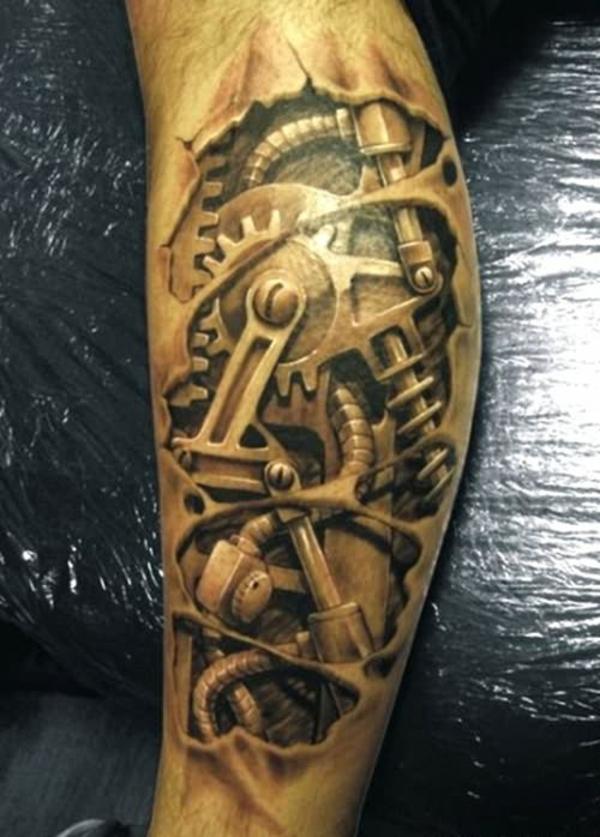 tattoo bein tattoo ideen mechanismus