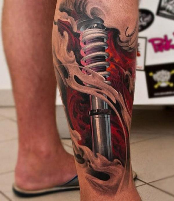 tattoo bein unterschenkel tätowieren lassen