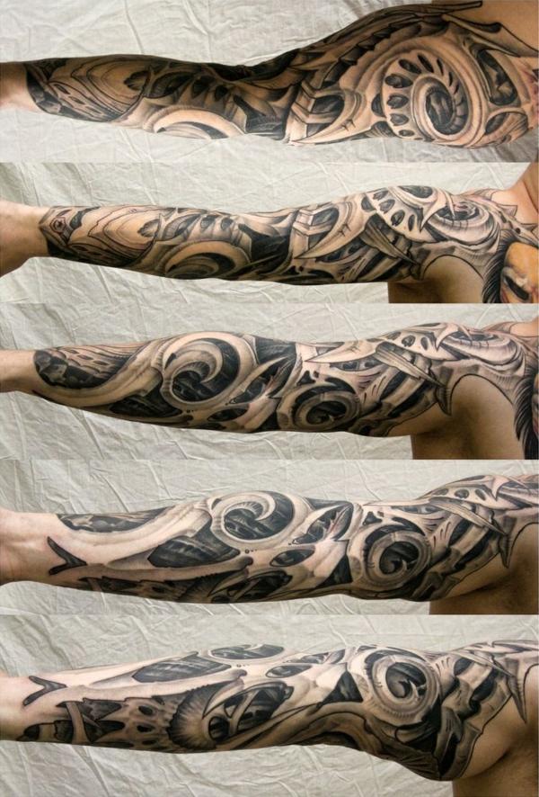 biomechanik tattoo motive arm tattoos ideen