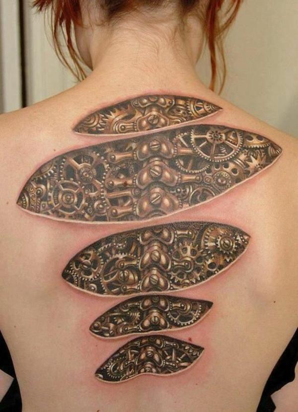 biomechanik tattoo rücken