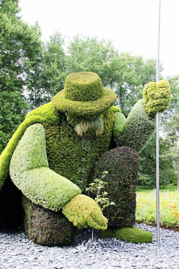 buchsbaum formschnitt garten figuren immergrün