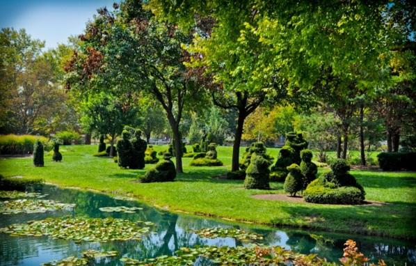 buchsbaum formschnitt garten figuren landschaft