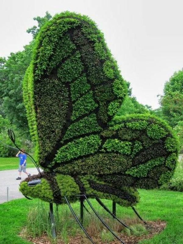 Gartendeko Figuren, 35 gartenskulpturen von comicfiguren und kunstvolle landschaftsbau, Design ideen