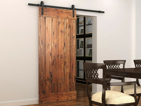 Rustic Sliding Interior Barn Door Hardware 600 x 450