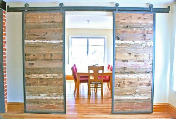 gleittüren selber bauen - diy schiebetüren im landhausstil - Küche Landhausstil Selber Bauen