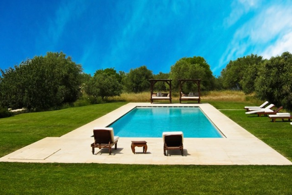 contemporary hinterhof pool landschaft