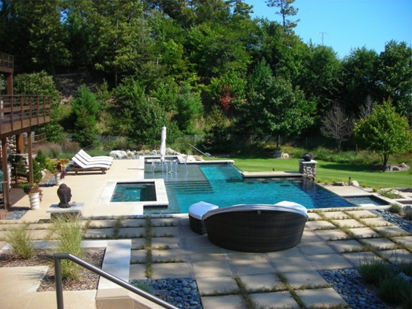 contemporary swimming pool landschaft