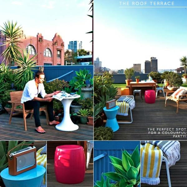 dachterrasse gestalten ideen terrassen möbel relax sonnenschutz