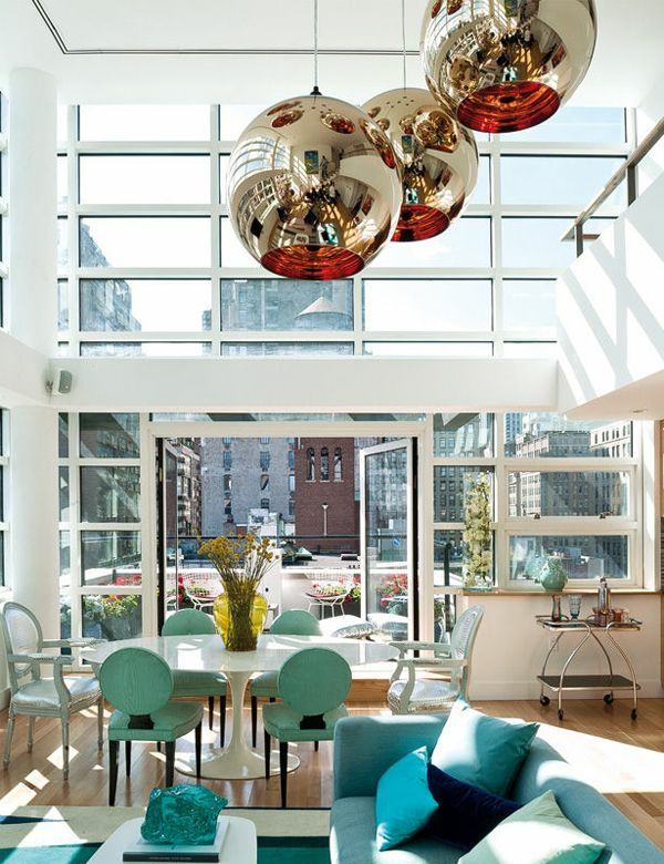dachterrassengestaltung verglasung wohnbereich wohnzimmer möbel stadtmitte wohnung