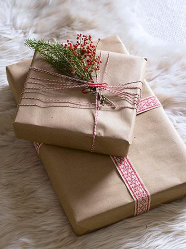 dekoideen geschenke schön verpacken blumenstrauß