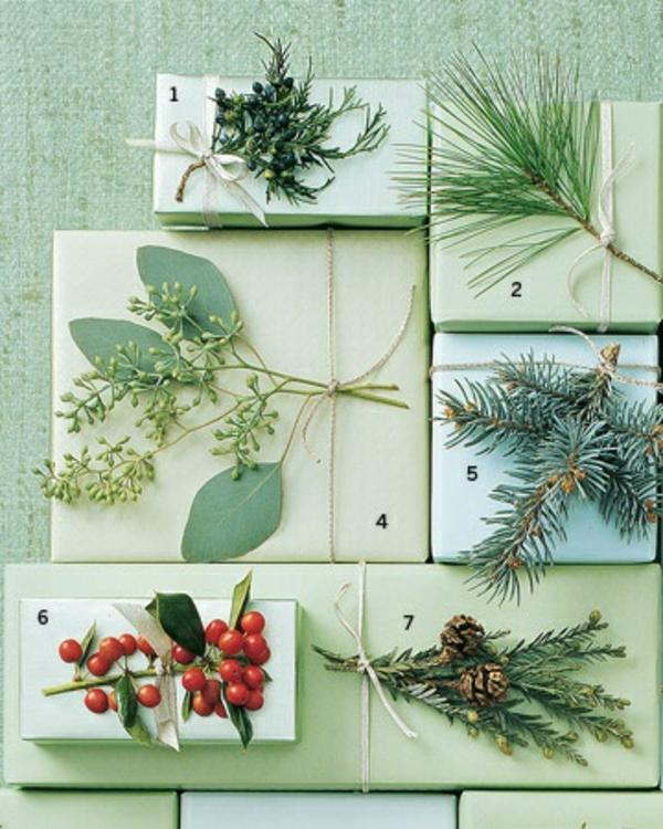 dekoideen geschenke schön verpacken natürlich pflanzen