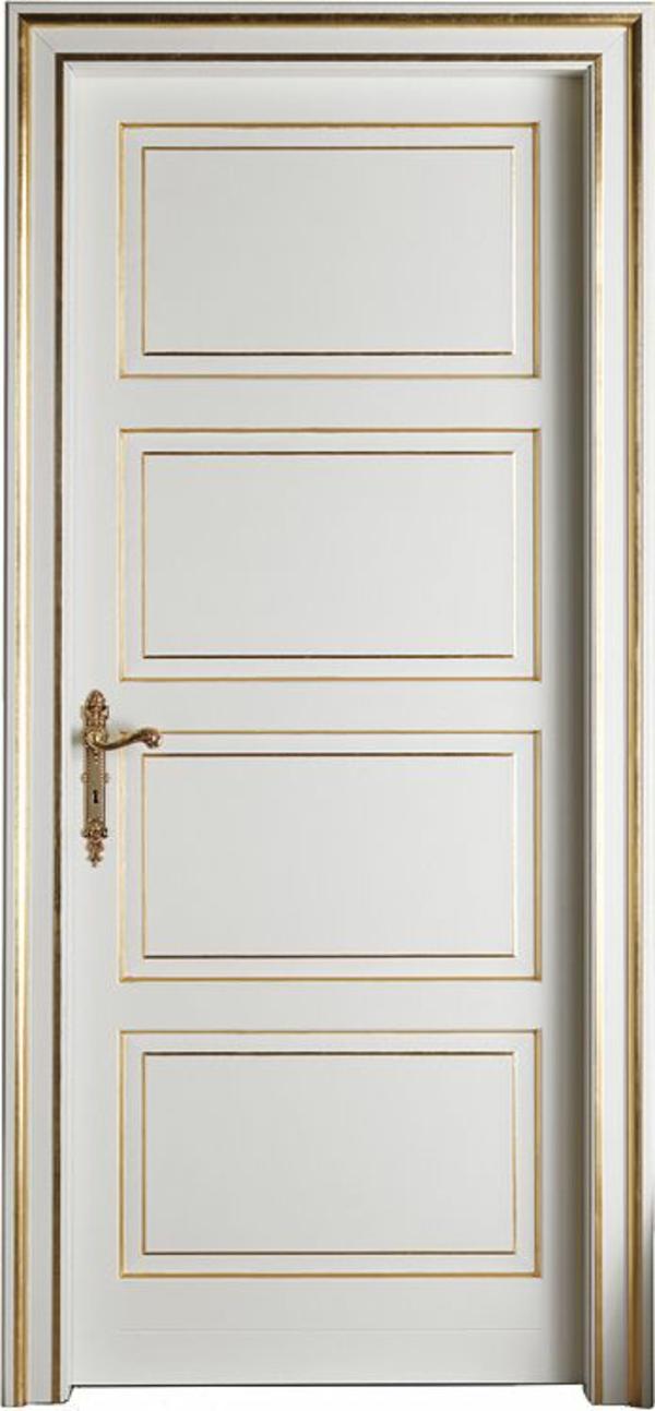 design ideen innentüren weiß goldene akzente