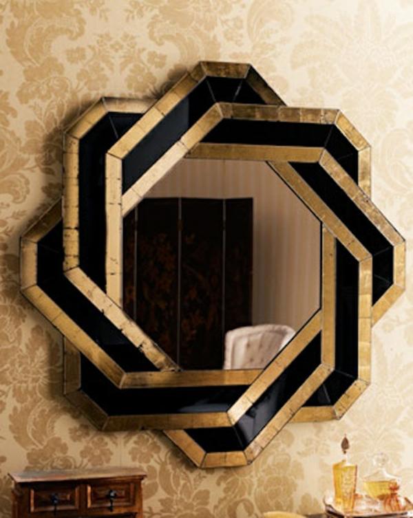 Designer Spiegel Stern Muster Accessoires