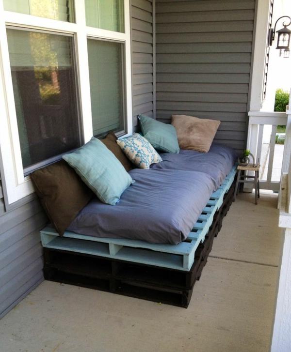 diy gartenmöbel sofa aus paletten farben