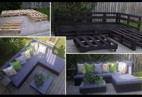 diy gartenmöbel paletten sofa
