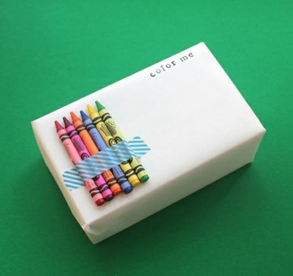 diy ideen geschenke schön verpacken filzstifte