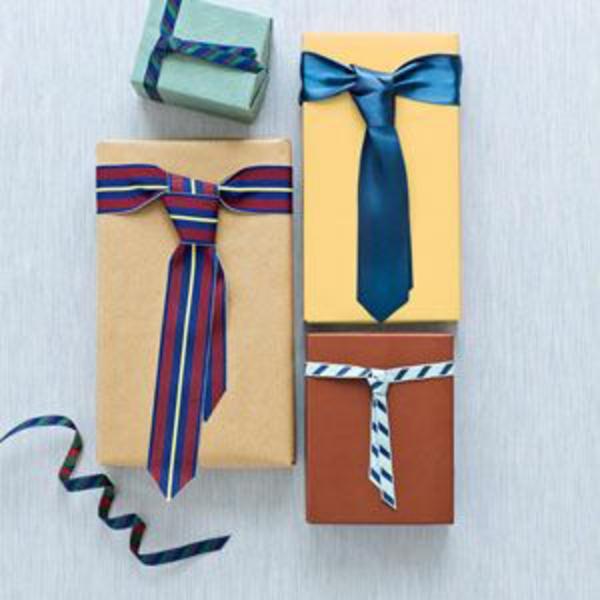 diy ideen geschenke schön verpacken geschenkband krawatte