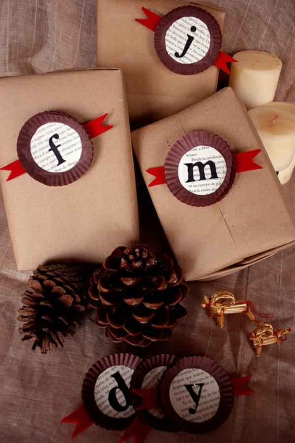diy geschenke  schön verpacken monogrammiert