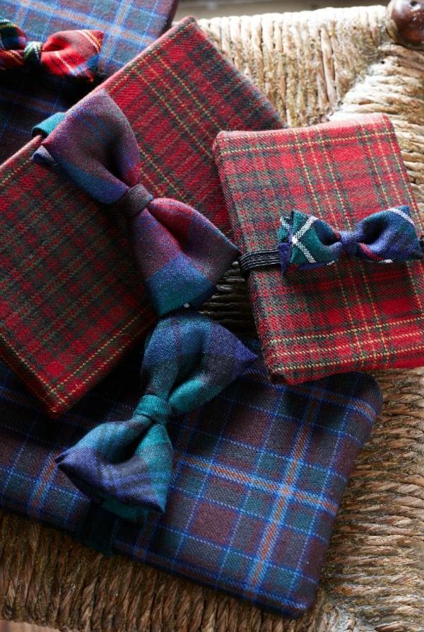 diy ideen geschenke schön verpacken tartan