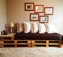 Sofa aus Paletten – DIY Möbel sind praktisch und originell