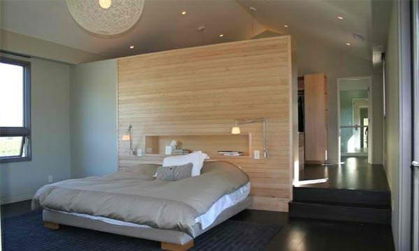 Wohnzimmer Parkett Dunkel   Dunkler Holzboden Verlegen Modernes Schlafzimmer  Kontraste Hell Dunkel