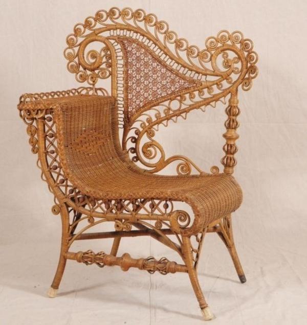 rattanmöbel sessel im viktorianischen stil
