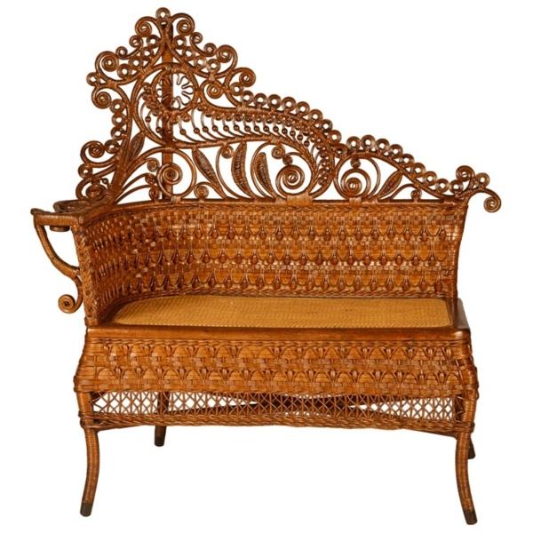 einmalige rattanmöbel sofa dekorative elemente