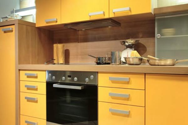 einrichtnugsideen wohnideen küche wandfarbe hochglanz