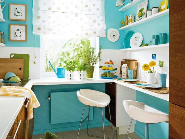 einrichtnugsideen wohnideen küche wandfarbe klein raum
