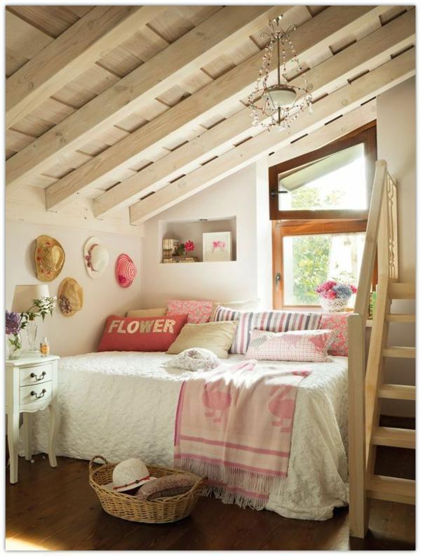 Einrichtungsideen jugendzimmer mit dachschräge  20 komfortable Jugendzimmer mit Dachschräge gestalten
