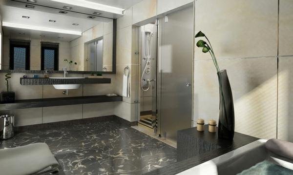 einrichtungsideen moderne badezimmer grau badmöbel