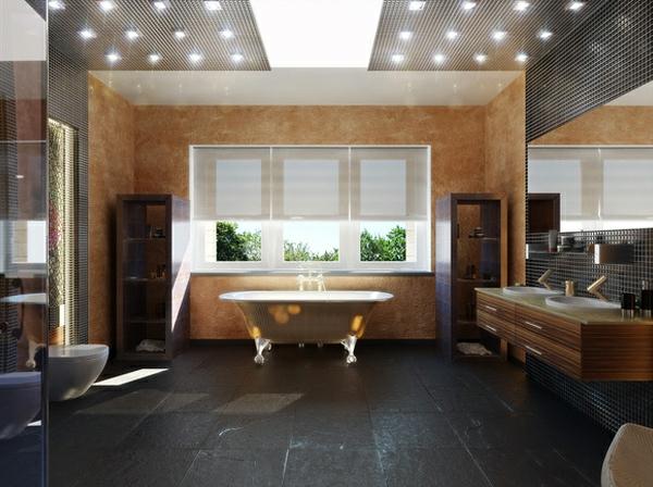 einrichtungsideen moderne badezimmer tolle beleuchtung