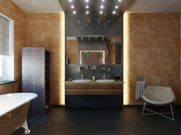 moderne badezimmer zeitgenössiche badmöbel