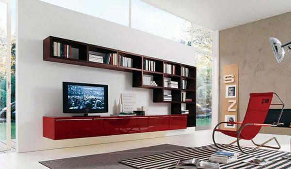 Einrichtungsideen Wohnzimmer Planer Wohnwand