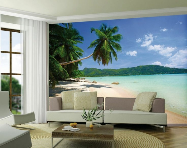 Einrichtungsideen Wohnzimmer Tapeten – Reiquest.com