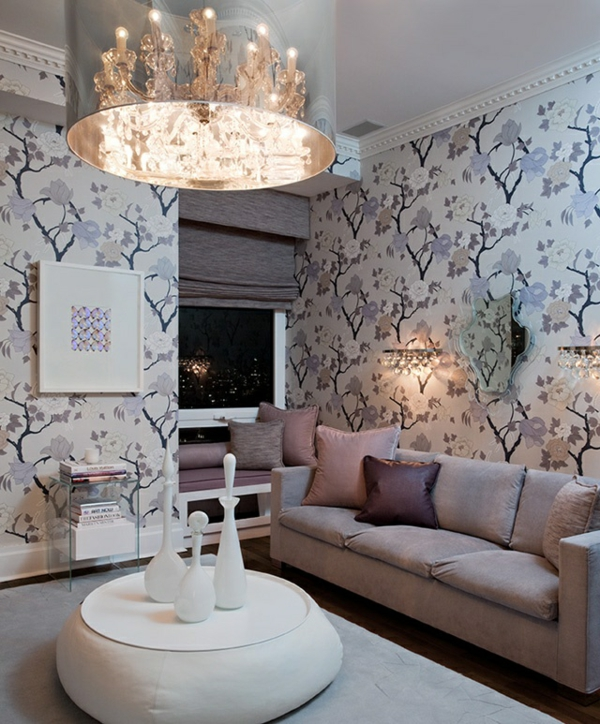 einrichtungsideen wohnzimmer wohnzimmer tapeten sanfte farben sofa