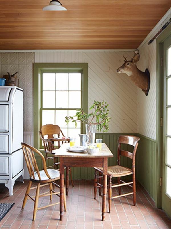 esszimmer bilder gestaltung landhausstil esstisch stühle