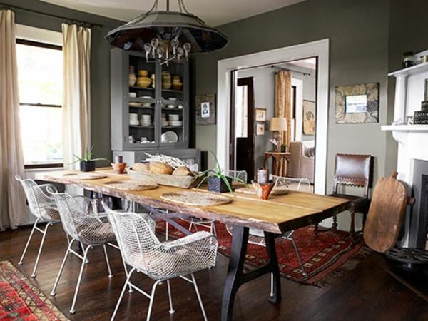 esszimmergestaltung bilder von esszimmer im landhausstil. Black Bedroom Furniture Sets. Home Design Ideas