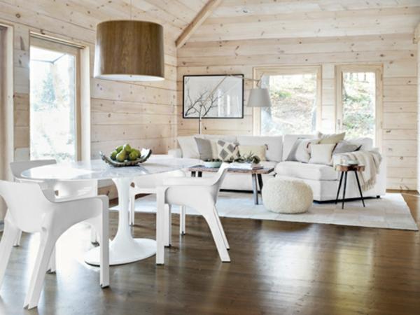 esszimmergestaltung landhausstil weiß modern