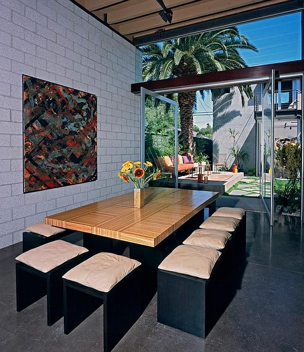moderne eszimmer gestalten möbel schlicht minimalistisch holzoptik